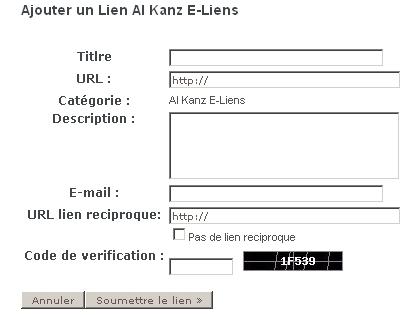 annuaire de blogs al-kanz - échanges de liens - backlink