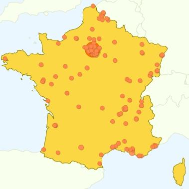 Google Analytics - Al-Kanz, la France et vous : quelques chiffres en cartes (septembre 2007)