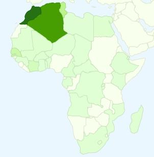 Google Analytics - Al-Kanz, la France et vous : quelques chiffres en cartes (octobre 2007) - afrique