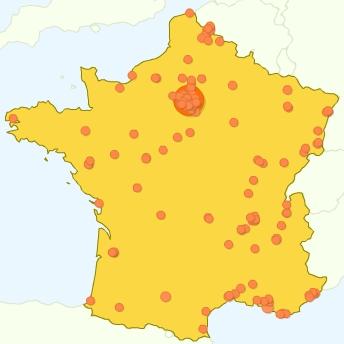 Google Analytics - Al-Kanz, la France et vous : quelques chiffres en cartes (octobre 2007)