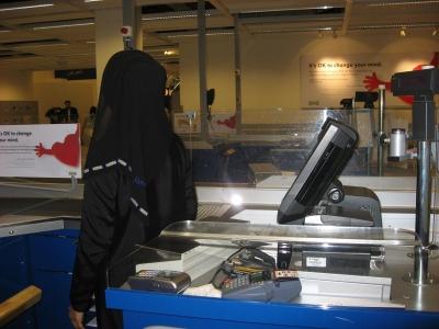 Ikea hijab caissière dubaï