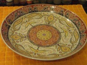 assiette Taos peinture au plomb