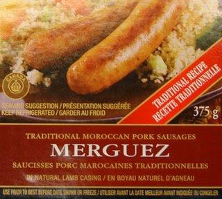 merguez au porc à la marocaine