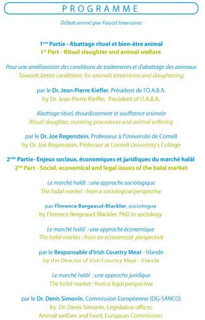 Atelier-conférence : Pour un meilleur dialogue sur l'abattage rituel musulman en France