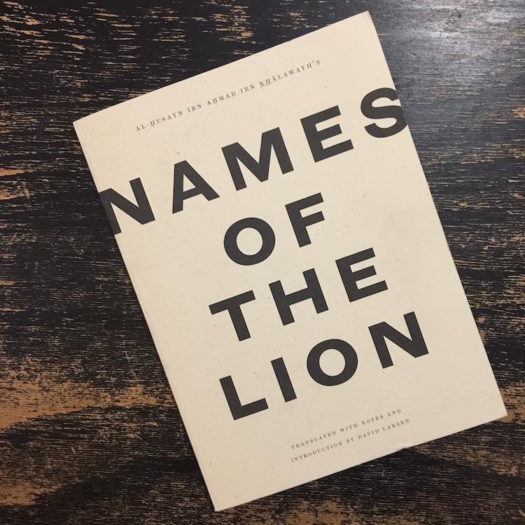 bn Khalawayh names of the lion