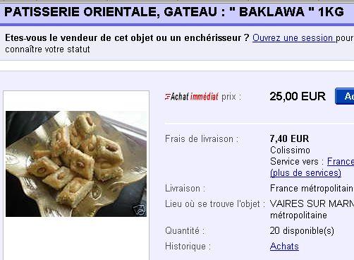 autoentrepreneur ebay gâteaux