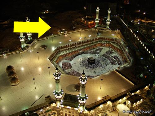 la Kaaba après destruction des immeubles alentour