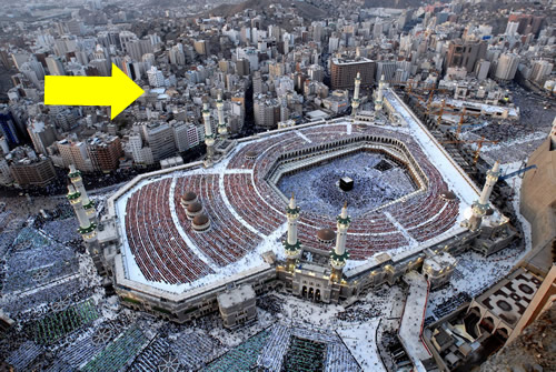 la Kaaba avant destruction des immeubles alentour