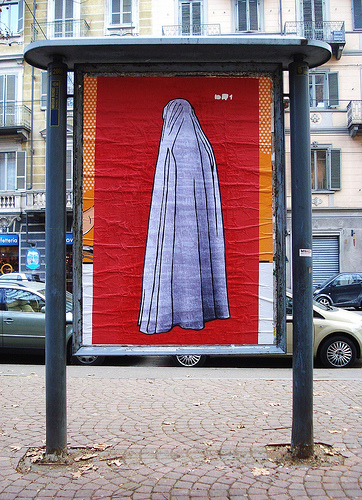 hijab panneau Turin