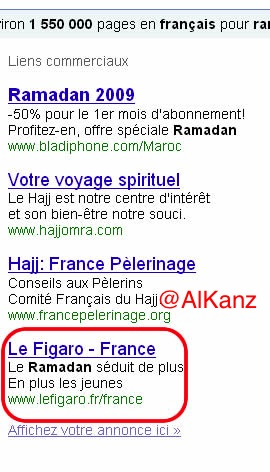 figaro ramadan adwords