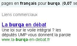 UMP : ce que ne voile pas la burqa