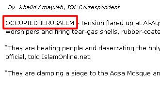 Occupied Jerusalem