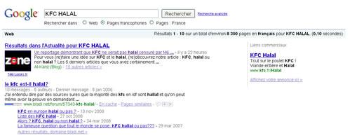 KFC, certifié halal par Google