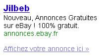 Ebay fait dans le jilbeb