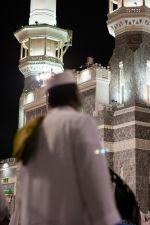 Devant la mosquée de La mecque