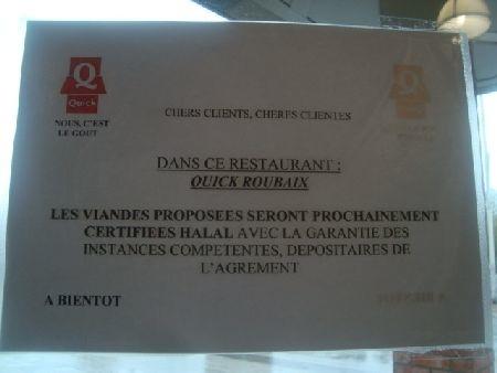Quick halal à la mode KFC