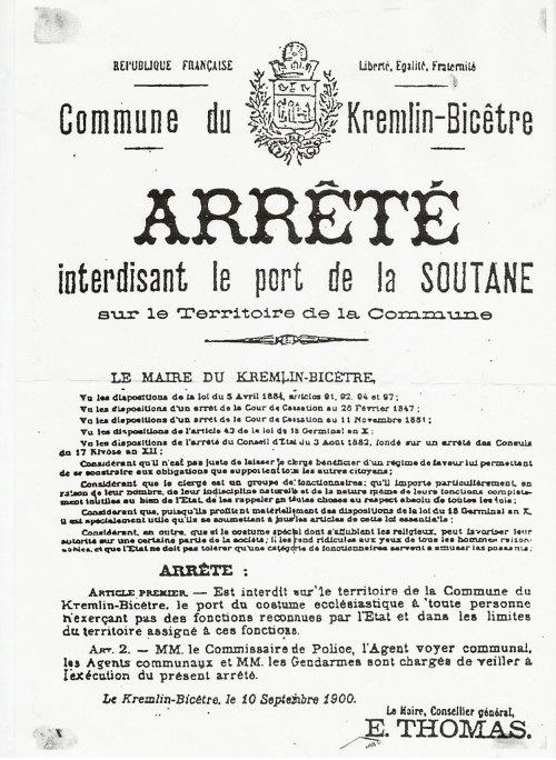 La soutane interdite dans le 94 - Loi interdisant le port du voile en france ...