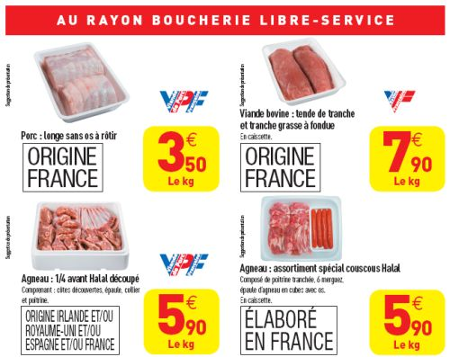 Halal Carrefour grande distribution