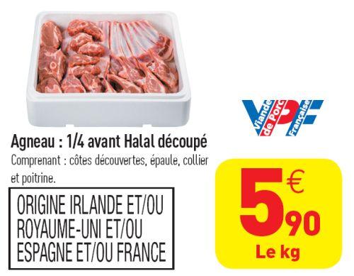 Carrefour : viande de porc ou agneau halal ?