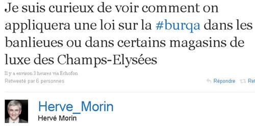 Burqa Hervé Morin
