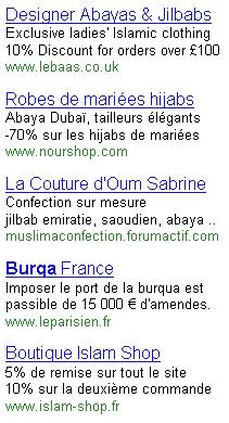 Burqa Adwords