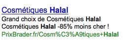 Cosmétique halal
