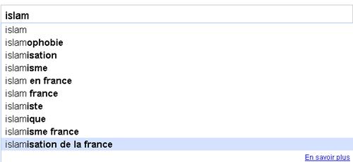 Google Suggest islam