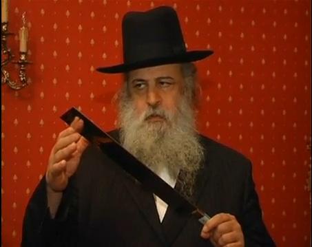 Abattage rituel juif, le couteau