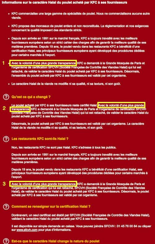 KFC FAQ
