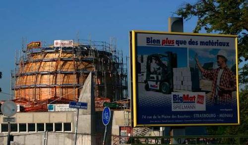 Mosquée de Strasbourg : publicité contextuelle IRL