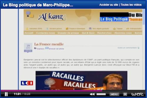 Lancar, TF1, racaille