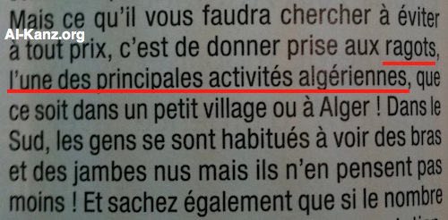l'Algérien bat sa femme