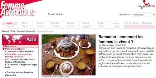 Femmes actuelles et le ramadan