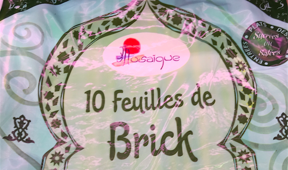 feuille de brick mosaique