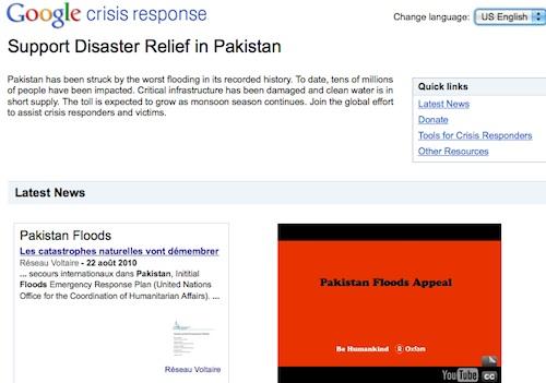 Google au secours du Pakistan