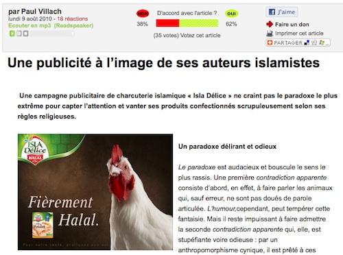 Isla Délice islamistes