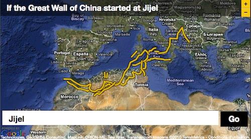 Si la muraille de Chine commençait à Jijel