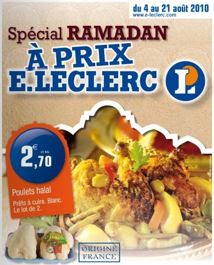 Spécial ramadan pour certains magasins E.Leclerc