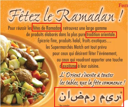 ramadan magasins Match