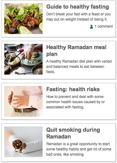 ramadan NHS