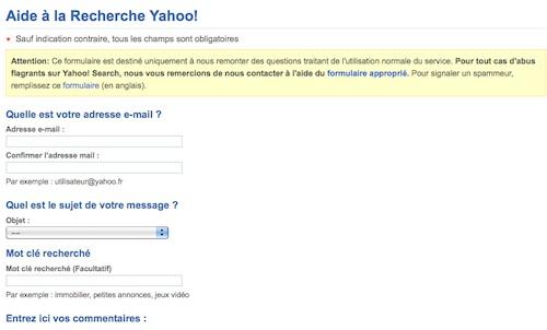 Condition féminine, selon Yahoo