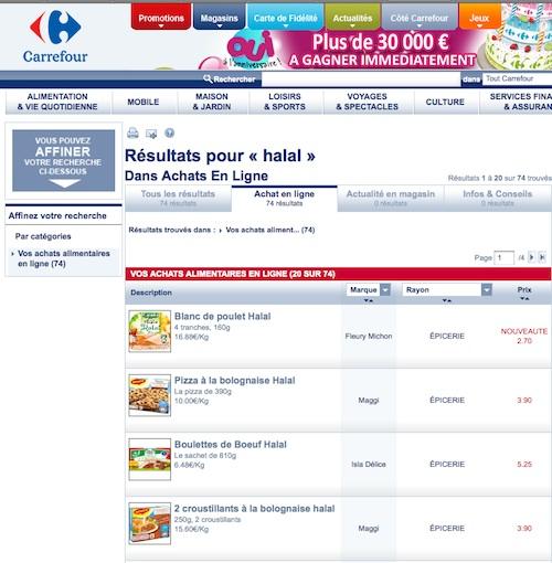 Carrefour halal