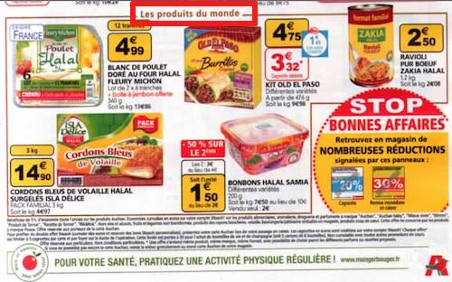 Auchan : halal produits du monde