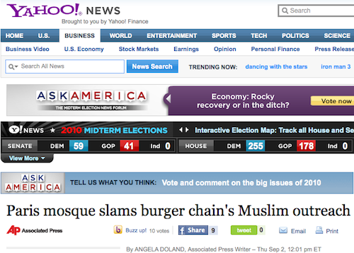 Selon les mosquées d'Evry et de Paris, Quick n'est pas halal