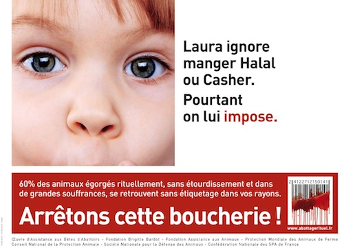 Brigitte Bardot et ses amis affichent leur propagande