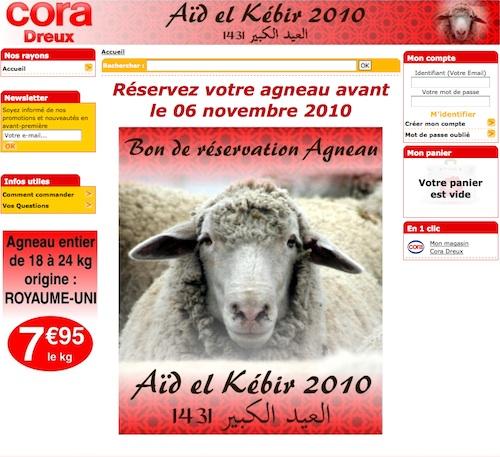 Chez Cora les moutons de l'Aïd sont abattus