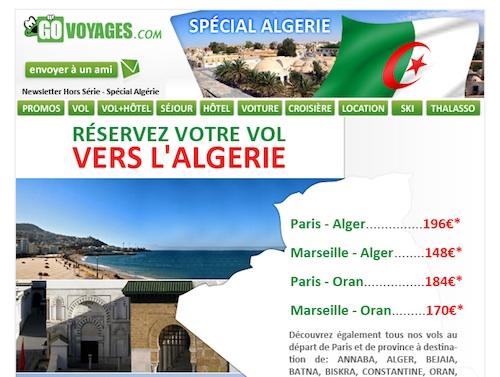 Go Voyages, spécial Algérie