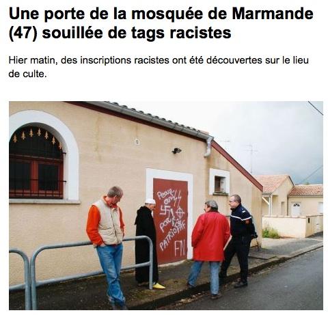Mosquée de Béziers profanée