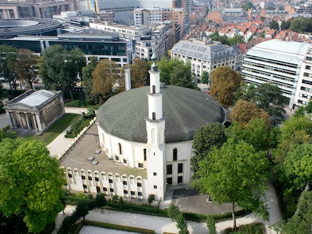 La mosquée de Bruxelles vue du ciel