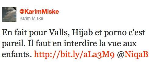 Pour Valls, hijab et porno, c'est pareil